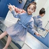 女童牛仔洋裝 女童連身裙2021新款秋裝洋氣兒童紗裙子韓版秋季童裝小女孩公主裙 艾維朵