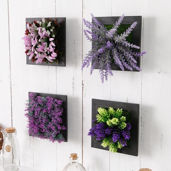 創意牆上軟裝飾品室內掛件仿真植物掛飾家居客廳餐廳牆面牆壁掛飾 喵小姐