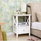 實木床頭櫃歐式白色床邊櫃斗櫃臥室收納櫃電話櫃簡約現代儲物櫃