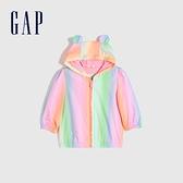 Gap嬰兒 漸層熊耳拉鍊連帽外套 681774-螢光彩色