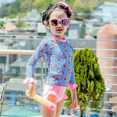 兒童泳裝 可愛 水果 條紋 兩件套 七分袖 兒童泳裝【SFC1786】 ENTER  12/14