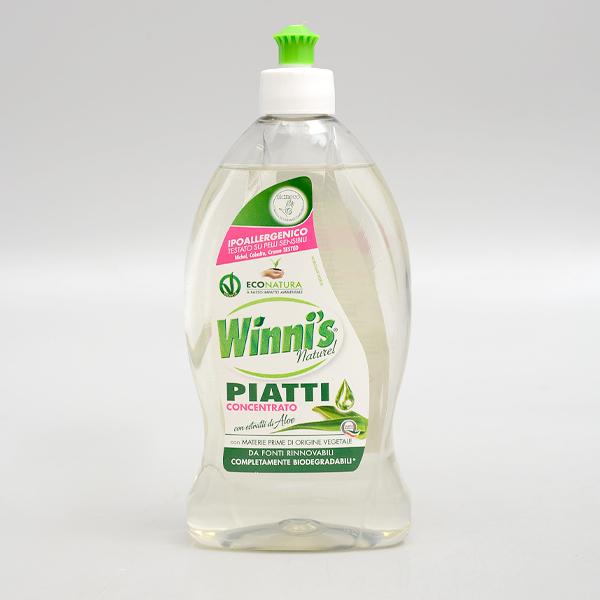 義大利【Winni's】濃縮洗碗精(蘆薈)500ml 保存期限:2023.11.09