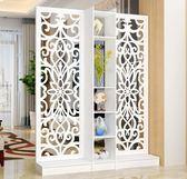 屏風隔斷客廳玄關柜現代時尚移動門廳裝飾柜鏤空雕花櫥窗背景  提拉米蘇