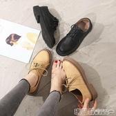 皮鞋 牛津鞋英倫鞋子女韓版百搭平底單鞋休閒軟妹原宿學生ins小皮鞋 瑪麗蘇