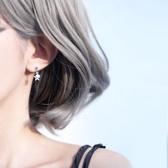 少女心S925純銀手工耳釘星星配飾雙層設計甜