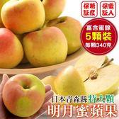 【果之蔬-全省免運】日本青森名月蜜蘋果x1盒(5顆/盒 每顆約340g±10%)