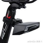 自行車尾燈 山地車尾燈 遙控轉向燈激光尾燈LED警示燈R1 莫妮卡小屋