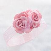 氣質雙玫瑰寬蕾絲髮帶 兒童髮帶 彈性髮帶 造型髮飾