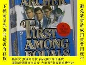二手書博民逛書店英文原版罕見First Among Equals by Jeff