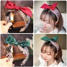 寬邊蝴蝶結髮箍女百搭外出泫雅風髮卡網紅頭箍女洗臉髮帶韓國頭飾