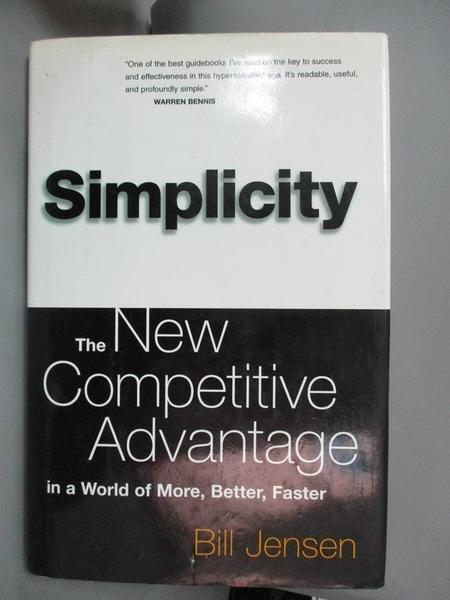 【書寶二手書T1/財經企管_YDH】Simplicity-the new competitive..._Bill Jensen.