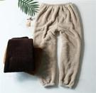 睡褲 情侶睡褲男女士冬保暖法蘭絨收口長褲寬鬆大碼加絨珊瑚絨家居睡褲 夏季新品