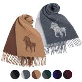 RALPH LAUREN POLO 經典大馬圖徽保暖圍巾(6色)780913