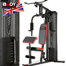 配重片150磅綜合重量訓練機(附護網+二...