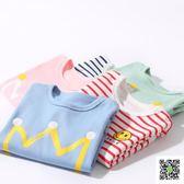 寶寶長袖純棉T恤春秋季打底衫上衣服秋裝男童女童新生嬰兒童衛生衣 聖誕慶免運