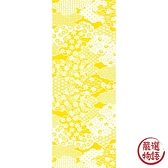 【日本製】【和布華】 日本製 注染拭手巾 黃色 和風雲海花紋圖案 SD-4983 - 和布華