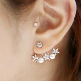 925純銀耳環珍珠(耳針式)-生日情人節禮物精緻鑲鑽花朵時尚精美女飾品73ag136【巴黎精品】