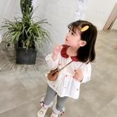 女童棉麻娃娃衫2019秋裝新款寶寶長袖上衣洋氣公主韓版荷葉領襯衫Mandyc
