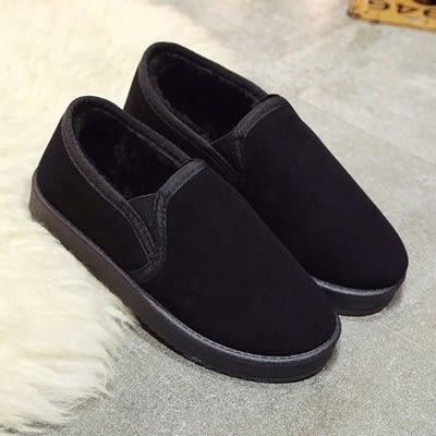 低筒雪靴-時尚簡約保暖百搭女厚底靴子3色73kg46[巴黎精品]