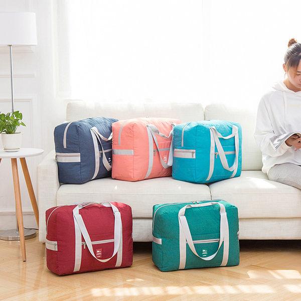 《WEEKEIGHT》行李箱拉桿適用 簡約耐磨大容量多功能可褶疊手提旅行袋/購物袋