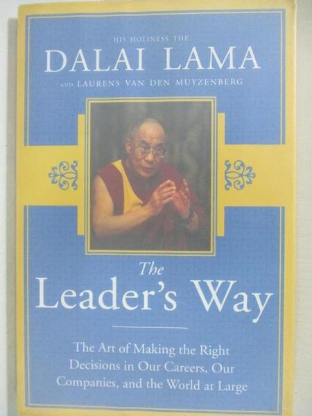 【書寶二手書T1/傳記_KS9】The Leader's Way: The Art of Making Right Decisions in…