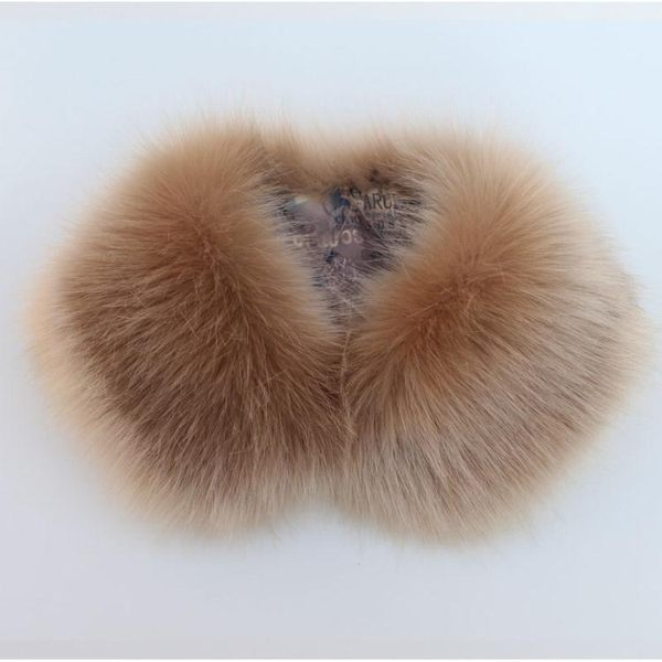 JORSFAN毛領子女仿狐貍假領子女貉子貉子毛領圍巾大衣領男 格蘭小舖