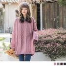 《FA1532》純色羅紋編織設計寬鬆針織毛衣 OrangeBear