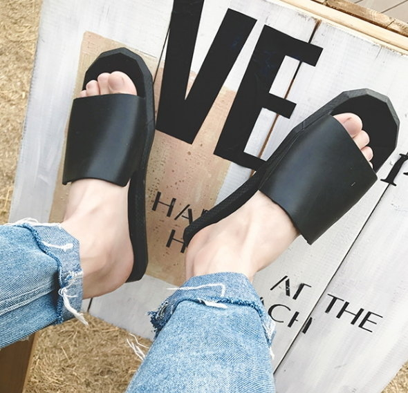 MD 3幾何 歐美 拖鞋 涼鞋 防水拖鞋 鞋 男女 加大 大尺碼