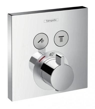 【麗室衛浴】德國HANSGROHE ShowerSelect  系列15763  高流量定溫 二路開關面板