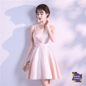 小禮服 伴娘服2020新款大氣晚禮服女簡單大方仙氣宴會小禮服平時可穿氣質