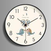 北歐掛鐘客廳個性創意時尚現代簡約時鐘靜音家用臥室歐式藝術鐘錶