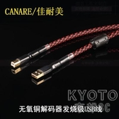 USB線材 日本CANARE/佳耐美 無氧銅解碼器聲卡線DAC音頻數據線發燒級USB線 遇見初晴
