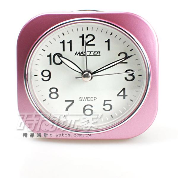 MASTER 台灣製造 精美鬧鐘 連續秒針 4分貪睡鬧鐘 鬧鈴 JM-E433粉