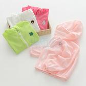 純色刺繡棉麻兒童外套(90-130)【巴布百貨】