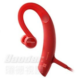 【曜德★送收納盒】SONY MDR-XB80BS 紅 運動藍牙入耳式藍牙耳機 防水 / 免運