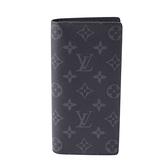 Louis Vuitton LV M61697 Brazza 黑經典花紋雙折零錢長夾 全新 現貨【茱麗葉精品】