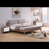 【石川傢居】CE-B215-02 威爾森淺胡桃6尺床台 (布枕) (不含床墊及其他商品) 台北到高雄搭配車趟免