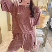 夏季短袖短褲運動套裝人棉莫代爾家居服可外穿學生裝M-XL碼1838#FZ1F118-A依佳衣