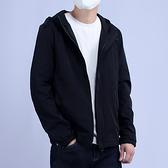 連帽外套-短款簡約舒適休閒經典男夾克74bd18[巴黎精品]