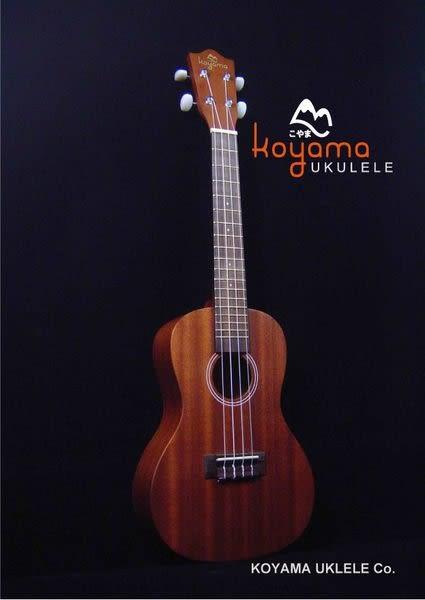 KOYAMA 23吋 KYM-C11 桃心花木面板烏克麗麗+調音器KT220