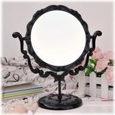 台式化妝鏡復古梳妝鏡鏡子超大號旋轉鏡子