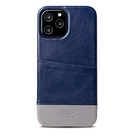 Alto iPhone 12 Pro Max 真皮手機殼背蓋 6.7吋 Metro - 海軍藍/礫石灰【可加購客製雷雕】皮革保護套