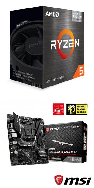 【自組DIY兩件組R56G】AMD R5 5600G+微星 B550M BAZOOKA