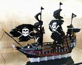 黑珍珠號海盜船小顆粒積木益智拼裝玩具模型 小宅君
