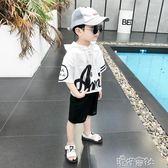 五歲男童夏裝套裝夏季童裝中大童韓版帥氣兒童短袖兩件套 港仔會社