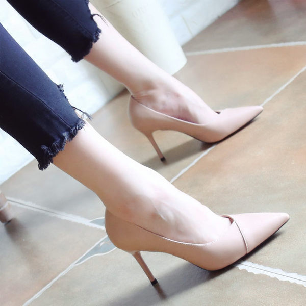 淺口細跟高跟鞋 女秋季尖頭鞋【多多鞋包店】z2985