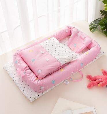 便攜式床中床多功能新生兒寶寶BB仿生床 樂印百貨