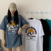 2020新款夏季韓版寬鬆中長款下衣消失蹤純棉短袖T恤女ins潮上衣服 童趣屋