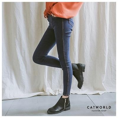 Catworld 極簡車線修身牛仔褲【12001700】‧S/M/L/XL