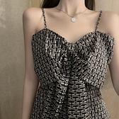 法式小眾設計感仙女吊帶洋裝子收腰顯瘦氣質女神范2021年新款夏【快速出貨】